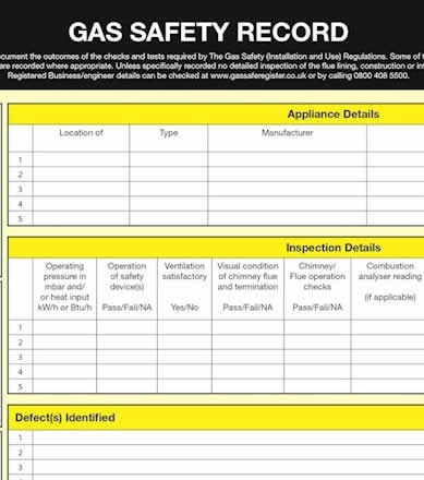 gas safety check in Manchester